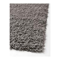 ХАМПЭН Ковер, длинный ворс, серый, 80х80 см, фото 1