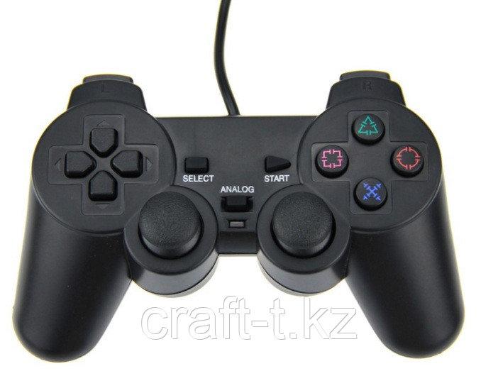 Игровой джойстик  для PS2 + двойной вибратор