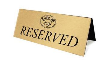 Настольные таблички кувертки таблички на стол роумарк