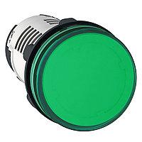 Сигнальная лампа 22ММ 230В зеленая