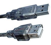 Удлинитель, Monster Cable, USB AM-AF 1.5 м., Hi-Speed USB 2.0, Ферритовые кольца защиты, Чёрный, фото 1