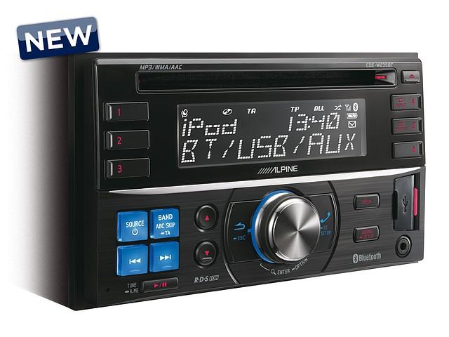 2-DIN CD-ресивер с большим дисплеем и управлением iPhone/iPod CDE-W235BT в Алматы