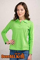 Зеленые, салатовые футболки поло с длинным рукавом.