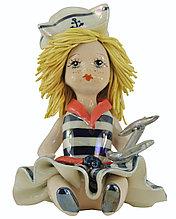 Статуэтка Девочка морячка. Ручная работа, керамика, Италия