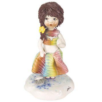 Статуэтка Девочка-лето. Ручная работа из керамики,Италия