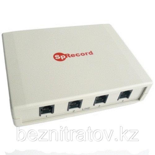 Система записи и регистрации телефонных разговоров SpRecord A4 (адаптер + программа)
