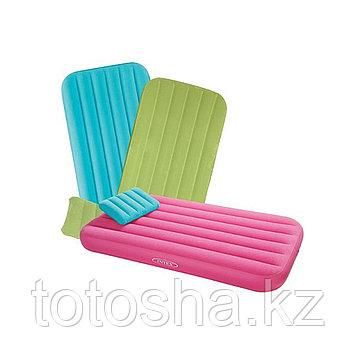 66801 Intex Надувной детский матрас с подушкой 155х88х18 см