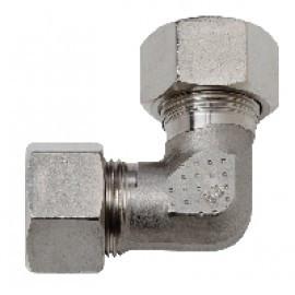 Соединитель гидравлической трубы угловой d-15