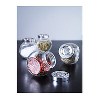 РАЙТАН Банка для специй, стекло, цвет алюминия, фото 1