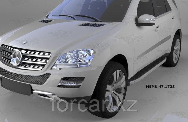 Пороги алюминиевые (Alyans) Mercedes ML W164 (2006-2011), фото 2