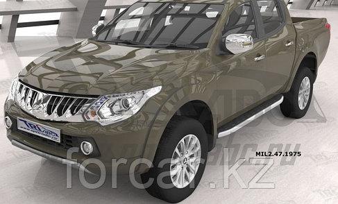 Пороги алюминиевые (Alyans) Mitsubishi L200 (2006-2013 / 2014- / 2015-), фото 2