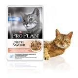 Pro Plan Housecat 85г Лосось в соусе корм для взрослых кошек, живущих дома, пауч