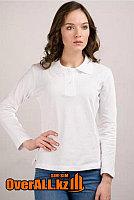 Белые футболки поло, с длинным рукавом.