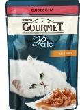 Gourmet Perle с Лососем (пауч), Влажный корм для кошек МИНИ-ФИЛЕ В ПОДЛИВЕ, 85г., фото 1