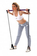 Палка гимнастическая с эспандерами «ПИЛАТЕС СТУДИО» Adj. Body Shaper Stick