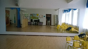 Зеркало для танцевального зала в детском саду (10 ноября 2015) 3