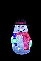 """Фигура световая """"Снеговик в зелёных варежках"""" 30*20 см, фото 1"""