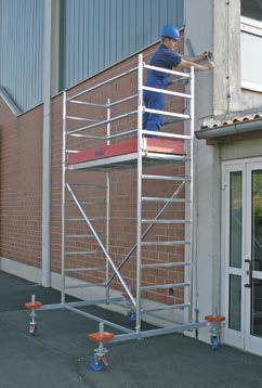 Передвижные подмости Stabilo, рабочая высота 4.4м