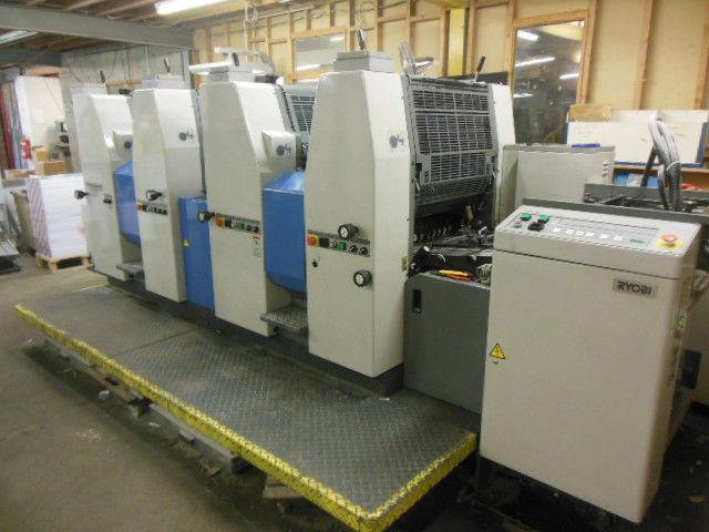 Ryobi 524HXX by 1999 г. - 4-х красочная офсетная печатная машина