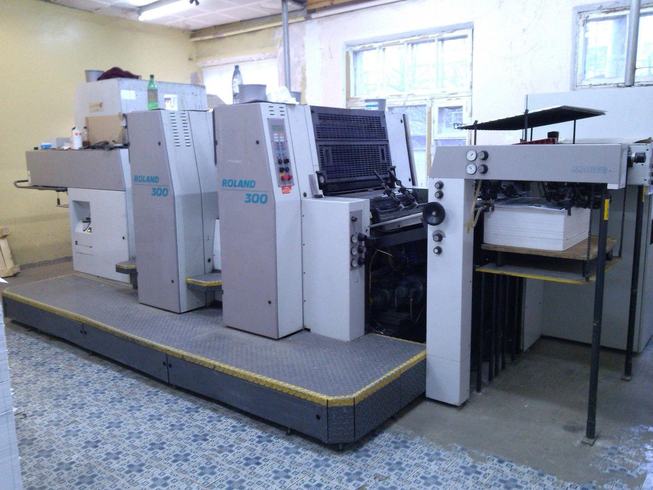 MAN Roland R 302 HOB бу 1996 г. 2-х красочная листовая офсетная печатная машина