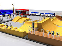 3д моделирование спортивной площадки, фото 1