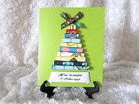 """Новогодняя открытка """"Праздничная ёлка"""", изумрудный фон, фото 1"""