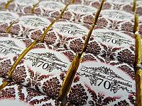 Обертки с шоколадом на юбилей, маленький, фото 1