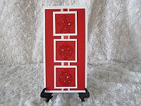 """Открытка на Новый год """"Ёлочная игрушка"""", красный фон, фото 1"""