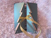 """Открытка на новый год """"Праздничная ёлка"""", зелёный фон, фото 1"""
