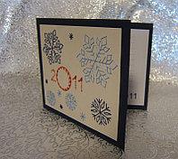 """Открытка на новый год """"Снежинка"""", вышивка, фото 1"""