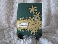 """Новогодние открытки """"Золотые снежинки"""", фото 1"""