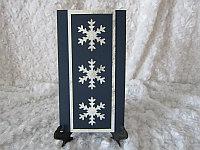 """Открытка на Новый год """"Снежинки"""", синий фон, фото 1"""
