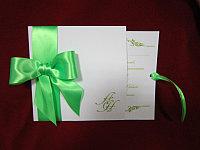 """Пригласительные на день рождения, """"Зелень весны"""", зеленый, фото 1"""