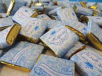 Шоколад с этикеткой на годик, маленький, фото 1