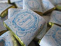 Шоколад с этикеткой на кыз узату, маленький, фото 1