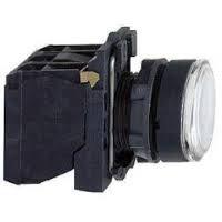 Кнопка 22мм 24В белая с подсветкой