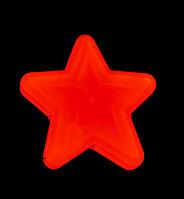"""Фигура световая """"Звезда красная однотонная"""" (высота 30 см)"""