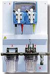 Станция дозирования на основе панели WDPHOS, контроль PH и  активного кислорода