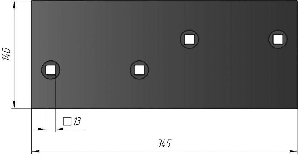Боковина (полевая доска двухстороняя) РЗЗ-ПЛУ