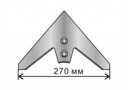Лапа сеялочная СКС,01,08,080-02 Омичка 270 мм