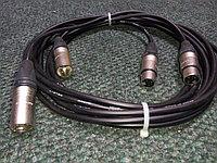 DaStore Products AIX-03-P, готовый аудио микрофонный кабель с XLR (canon) разъёмами (мама-папа), длина 3 метра, фото 1