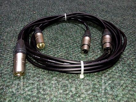 DaStore Products AIX-03-P, готовый аудио микрофонный кабель с XLR (canon) разъёмами (мама-папа), длина 3 метра, фото 2