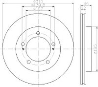 Тормозные диски Mazda  Proceed  levante (передние, TRW)