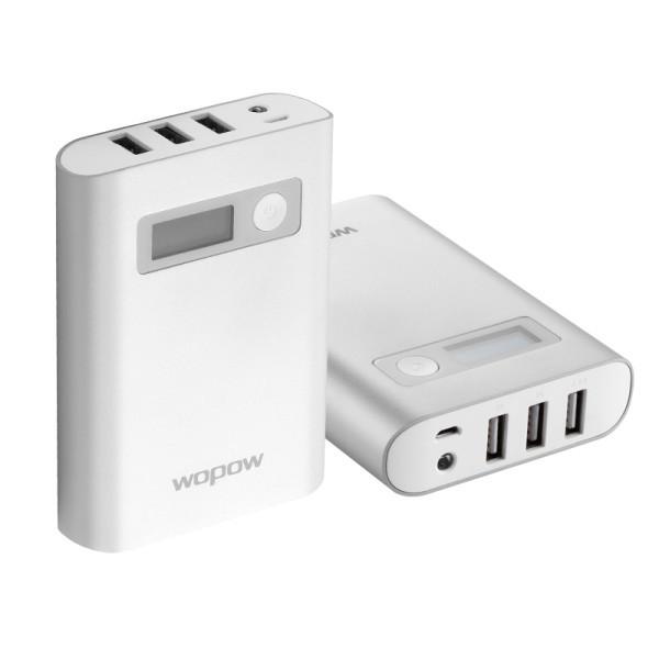 Power Bank 10000mAh WOPOW 3USB,дисплей,  PD604
