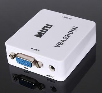 Конвертер  VGA +3,5stereo/звук/-HDMI VGA2HDMI MINI