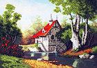 """Набор для вышивания бисером """"Мельница у лесного озера"""" Б-692, фото 2"""