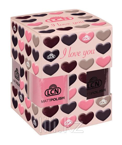 Набор матовых лаков для ногтей LCN- I LOVE YOU (арт. 89531)