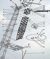 Стреловое оборудование ДЭК-251, Стрела, 14 м, гусек 5 м (251.20.00.000-02-01)