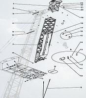 Стреловое оборудование ДЭК-251, Стрела, 14 м, с грейфером (251.20.00.000-02-12)