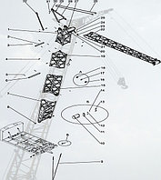 Стреловое оборудование ДЭК-251, Стрела 32,75 м, гусек 10 м (251.20.00.000-02-13)